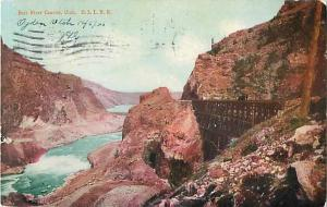 Oregon Short Line in Bear River Canyon Utah UT 1906 UND/B