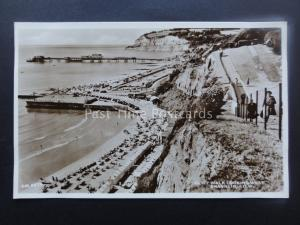 Isle of Wight SHANKLIN Cliff Walk Looking West Old RP Postcard Thunder & Clayden