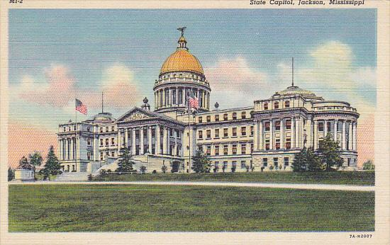 Mississippi Jackson State Capitol Building Curteich