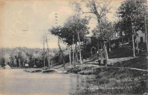 Mt Lake New York Hotel Waterfront Antique Postcard K93542