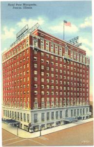 Hotel Pere Marquette, Peoria, Illinois, IL, Linen