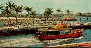 Florida Boynton Beach Boynton Inlet Docks Showing Fishing Fleet 1966