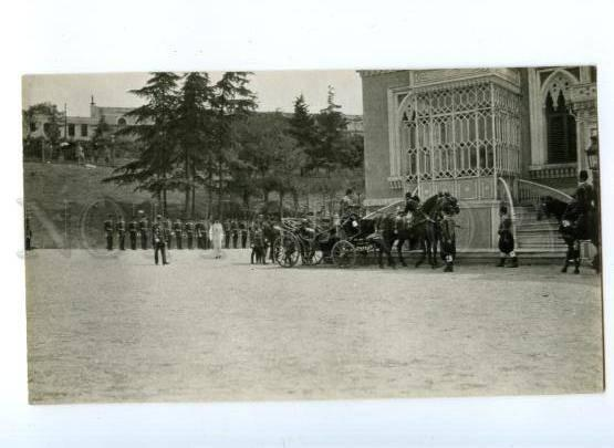 172079 TURKEY CONSTANTINOPLE arrival Sultan to mosque Vintage