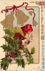 Santa Claus Postcard Old Vintage Christmas Post Card 1910