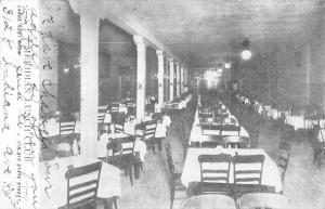 Meridian Illinois ? Lunch Club Dining Interior Antique Postcard K22553