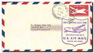 Letter USA 1st Flying Air Mail CAr November 10, 1946