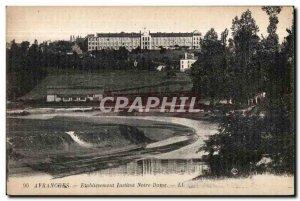 Old Postcard Avranches Establishment Institute Notre Dame