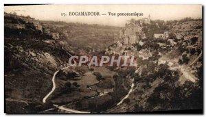 Postcard Old Rocamadour Panoramic