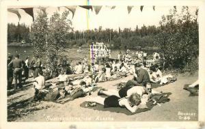Brickley Photo 1940s Summertime in Alaska RPPC Real photo postcard 9734