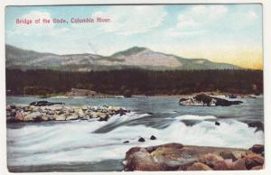 PC65 JLs old postcard oregon bridge of gods columbia river