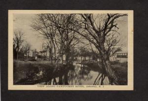 RI View along Pawtucket River Ashaway Rhode Island Postcard