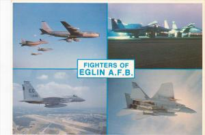 Greetings From Eglin Air Force Base Florida Showing Fighters In Flight