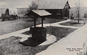 Meade Kansas~Dalton Gang Hideout~Wishing Well And Museum~1960 Postcard