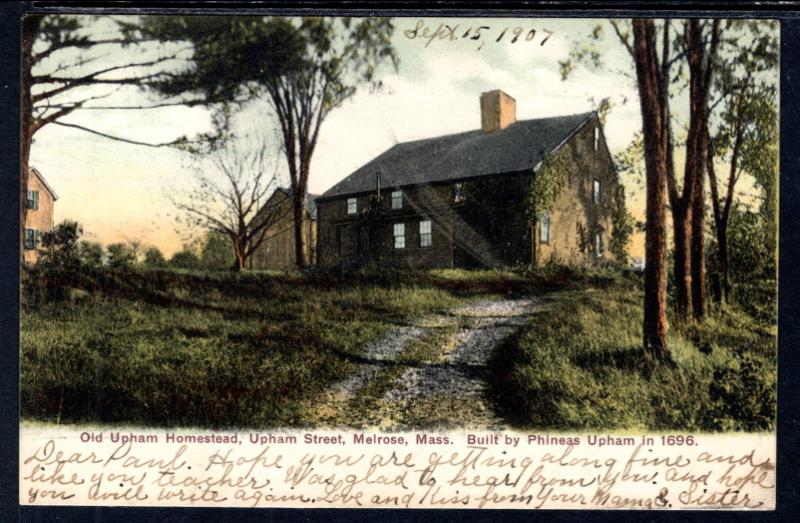 Old Upham Homestead,Melrose,MA