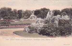 New York Albany Flower Garden And King Fountain Washington Park