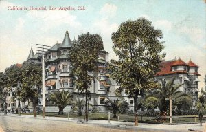 California Hospital, Los Angeles, CA c1910s Vintage Postcard