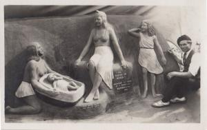 Story Of Moses Bible Sand Sculpture Bournemouth Modelling Real Photo Postcard