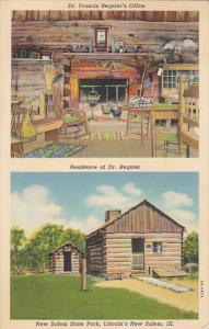 Illinois New Salem State Park Residence Of Dr Regnier and Office 1945 Curteich