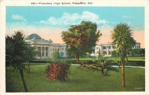 Pasadena California~Pasadena High School~Green Dome & White Columns~1920s