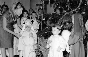 Royalty Belgium Princess Paola, Christmas Decorated Tree Children Prayers