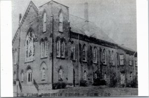 postcard rppc The First Christian Church, Salem, Ohio