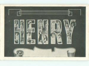 Pre-Linen HENRY - THE NAME SPELLED IN BIG LETTERS AC4036