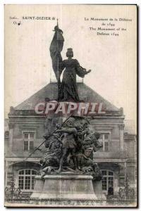 Postcard Old Saint Dizier The Monument of Defense 1544 Jeanne d Arc