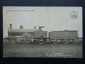 L.& N.W. Railway Official CITY OF LIVERPOOL Loco No.410 c1904 Postcard by L&NWR