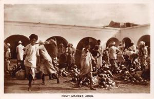 Yemen Aden Fruit Market Commerce Shop, Real Photograph