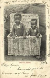 south africa, The Two Brothers (1906) Sallo Epstein & Co. Postcard