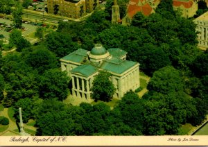 North Carolina Raleigh Aerial View Of State Capitol