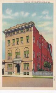 Illinois Springfield Masonic Temple Curteich