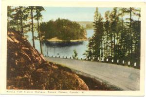 Kenora-Fort Francis Highway, Kenora, Ontario, ON, Canada, White Border