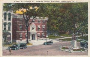 WATERTOWN, New York, 00-10s; Lower Washington St. , Flower Monument