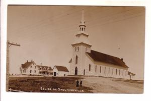 Real Photo, Eglise de Saulnierville Church, Digby County, Nova Scotia, Split ...