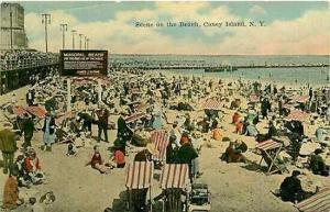 NY, Coney Island, New York, Beach Scene, No. 228