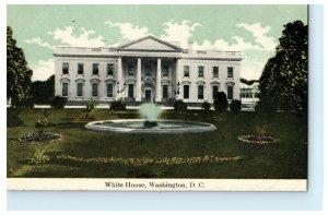White House Washington DC Fountain Early 1900's Unused Vintage Antique Postcard