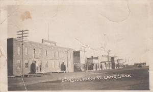 RP: LANG , Sask. , Canada , 191910 ; East Side Main Street