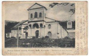 Seychelles; Roman Catholic Church, Victoria Mane PPC, 1905 Brymbo PMK To Lomax