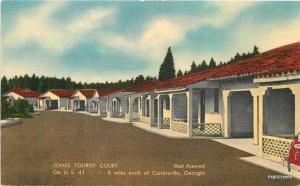 Jones Tourist Court GEORIA Linen THOMAS postcard 592
