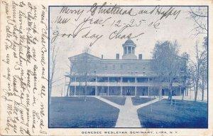Lima NY, New York - Main Building Genesee Wesleyan Seminary - pm 1906 - UDB