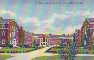 Georgia Macon Campus Scene Wesleyan College Curteich