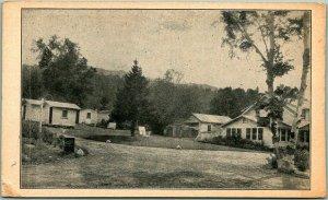 Gorham, New Hampshire Postcard SHELBURNE BASINS CAMPS Route 2 Roadside c1930s