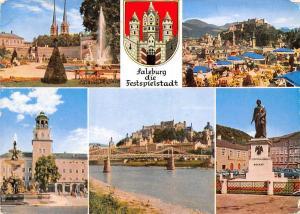 Salzburg die Festspielstadt, Mirabellgarten Cafe Winkler Glockenspielturm