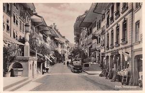Switzerland Old Vintage Antique Post Card Thun Hauptgasse Unused