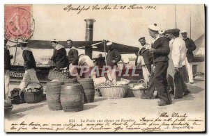 Old Postcard The post boat squadron in cabbage