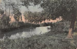 Le Mars Iowa~Trees Swallow Both Sides of the Floyd River c1910