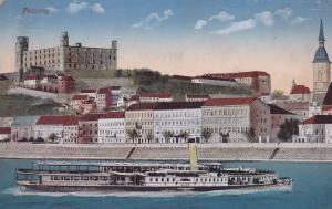 Pozsony Polish Passenger Ship Slovakia Poland Old Postcard