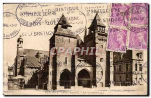 St Brieuc - The Cathedral - Old Postcard