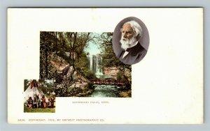 Minnehaha Falls MN-Minnesota, Scenic View, Vintage Postcard